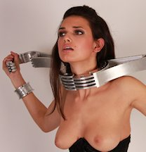 Just heavy steel bdsm collar has