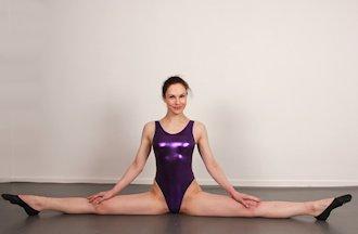 Gymnastic girl in bondage